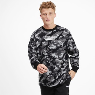 Puma Rebel Camo Men's Fleece Crewneck Sweatshirt