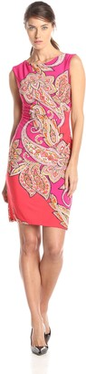 Sandra Darren Women's Paisley Print Sheath Dress