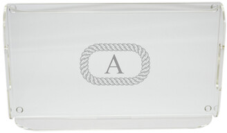 Carved Solutions 16.5In Personalized Acrylic Serving Tray With Handles