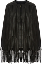 Elie Saab Leather Fringe Cape