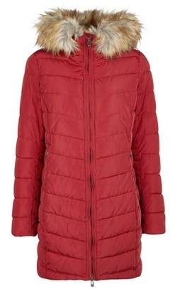 Dorothy Perkins Womens Only Burgundy Quilted Coat
