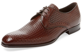 Mezlan Textured Leather Derby Shoe