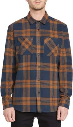 Volcom Shade Stones Slim Fit Check Button-Up Shirt