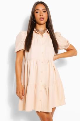 boohoo Woven Tierred Extreme Smock Dress