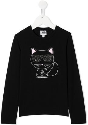 Karl Lagerfeld Paris Choupette print sweatshirt
