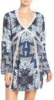 Red Carter Print Cover-Up Caftan