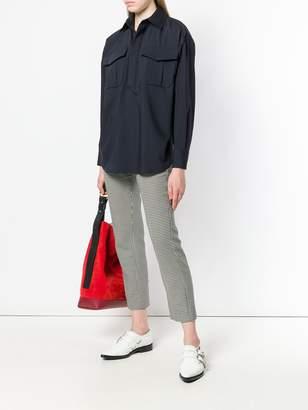 Jil Sander Navy boxy pocket shirt