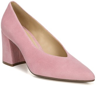Naturalizer Leather Block Heel Pointed Toe Pumps - Hope