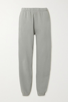 LES TIEN Cotton-jersey Track Pants - Gray