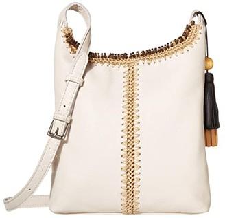 The Sak Huntley Leather Crossbody (Stone Crochet) Handbags