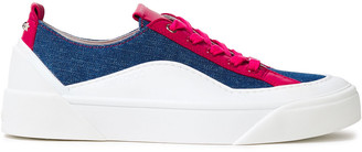 Jimmy Choo Choo Color-block Leather And Canvas Sneakers