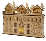 Kurt Adler 13-Inch LED Wooden Advent Calendar