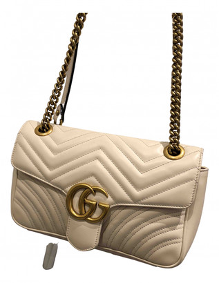 Gucci Marmont White Leather Handbags