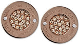 Michael Kors Ion-Plated Pavé Disc Stud Earrings