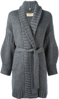 Burberry long belt cardigan - women - Wool/Cashmere - S