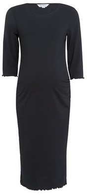 Dorothy Perkins Womens Dp Maternity Black Rib Bodycon Dress, Black