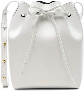 Mansur Gavriel Mini Bucket Bag in Blu Calf & White | FWRD