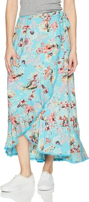 Angie Women's Floral Printed Wrap Skirt