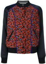 Coach floral print bomber jacket - women - Polyester/Viscose - 0