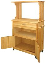 Catskill Craft Natural Finish Microwave Cart