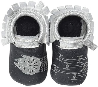 Freshly Picked Star Wars Space Chase Moccasin (Infant/Toddler) (Navy/Silver) Kid's Shoes
