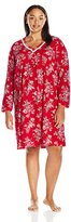 Carole Hochman Women's Plus Size Cotton Jersey Sleepshirt with Satin Trim