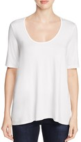 Three Dots Scoop Neck High/Low Tee