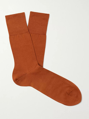 Falke Tiago City Fil d'Ecosse Cotton-Blend Socks - Men - Orange