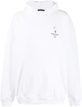Balenciaga Paris Olympics embroidery hoodie