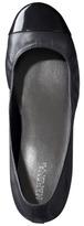 B.ella Women's Merona Genuine Leather Cap Toe Flat - Black