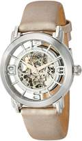 Stuhrling Original Women's 156.121S2 Classic Wall Street Winchester Automatic Skeleton White Watch