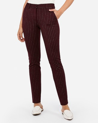 Express Mid Rise Skinny Pinstriped Columnist Pant