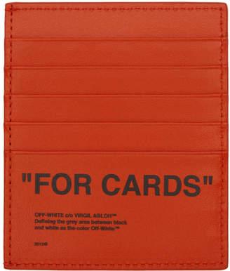 Off-White Off White Orange Quote Card Holder