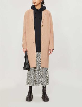 Acne Studios Notch-lapel oversized-fit wool coat