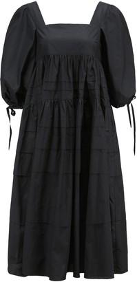Paper London Frankie Cotton Smock Dress - Black