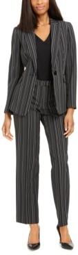 Le Suit Pinstripe Pantsuit