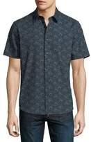 Theory Nikko Printed Short-Sleeve Shirt