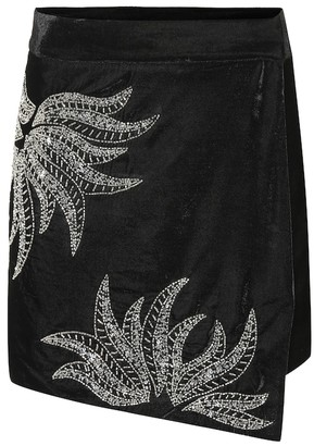 Dodo Bar Or Embellished velvet miniskirt