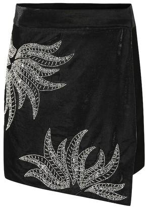 Dodo Bar Or Embellished velvet miniskirt