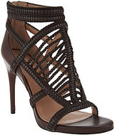 BCBGMAXAZRIA Braided Leather Caged Sandals- Dori