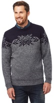 Mantaray Big And Tall Grey Fair Isle Patterned Jumper With Wool
