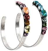 Dannijo rainbow hoop earrings