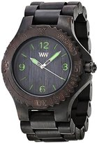 WeWood Men's Kale Wood Wooden Watch (Black & Green)