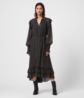 AllSaints Lara Dot Dress