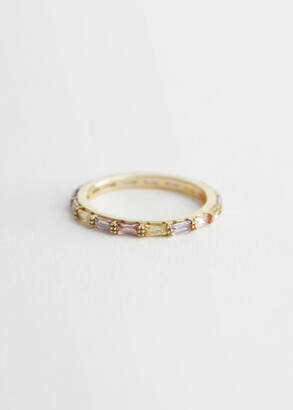 And other stories Multi-Coloured Crystal Stud Ring