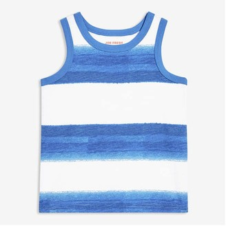 Joe Fresh Toddler Boys' Stripe Tank, Royal Blue (Size 5)