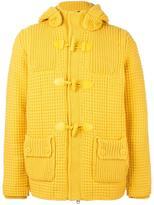 Bark hooded duffle coat - men - Nylon/Polyester/Wool - S