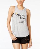 Freeze 24-7 Juniors' Queen Bee Racerback Graphic Tank Top
