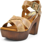 Sbicca Camel Blackwell Leather Platform Sandal