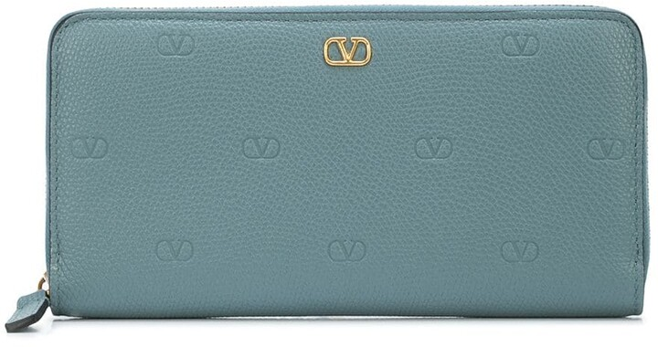 Valentino Garavani calf leather VLOGO detail wallet